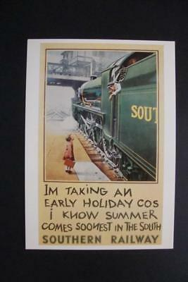 774) Southern Railway Passenger Steam Train ~ Holiday Train Trip ~ Reproduction