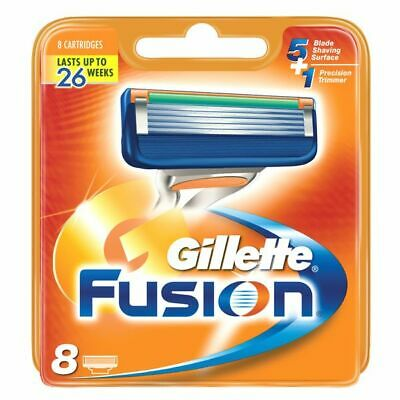 Gillette Fusion Blades Pack Of 8 Cartridges Brand New Genuine