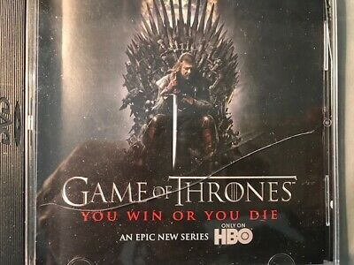 "Game of Thrones press screener DVD, from HBO, of ""U Win or You Die"" ""Pointy End"""