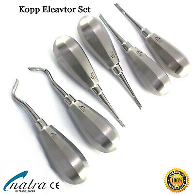 6 Pcs Dental Root Elevators Oral Surgery PDL Luxating Tooth loosening NATRA