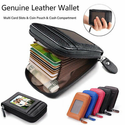 Rfid Blocking Wallet Anti-Theft Secure Faux Genuine Leather Card Holder Uk