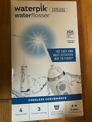 Waterpik Cordless Advanced Waterflosser White Model WP-560CD
