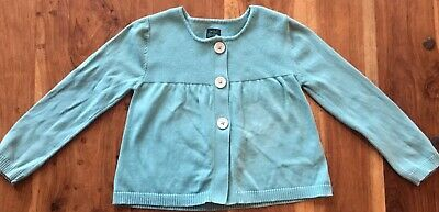 MINI BODEN / Girls Cotton 3 Button CARDIGAN / Light Blue / Size 5T / NWOT