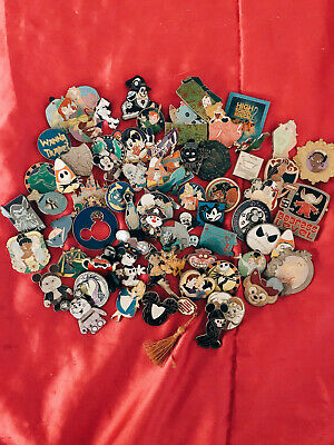 Disney Pin Trading 10 Assorted Pin Lot - No Doubles - Tradable - Great Condition