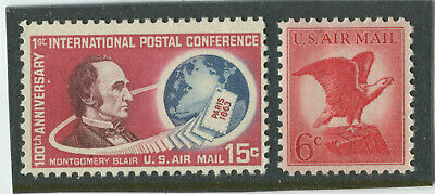U.S. Stamps Scott #C66,C67 (2), MINT,NH,F-VF+  (X1296N)