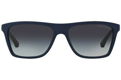 acf240698 NWT Emporio Armani Sunglasses EA4001 50658g Blue Rubber/Gray Gradient 58mm