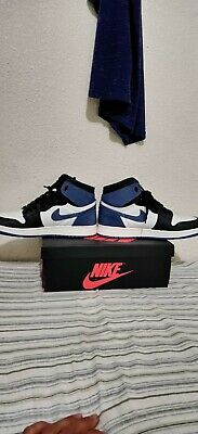 7d3eaf2fe47 Nike Air Jordan 1 Retro High OG Blue Moon Size 7Y Authentic W/Receipt 575441