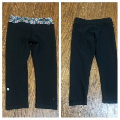 Ivivva Crop Leggings Black Size 8 Reversible Gym Yoga