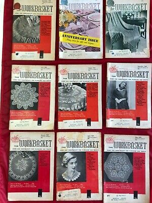 Lot Of 9 The Workbasket And Home Arts Magazine All Are 1959 Issues Cond: Good