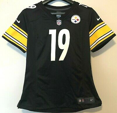 dcfc438c2f1 NEW Youth Large Pittsburgh Steelers JuJu Smith-Schuster 19 Nike NFL Game  Jersey