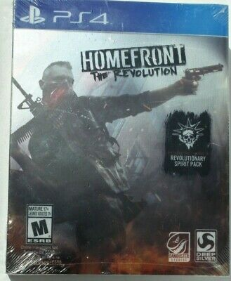 *NEW*PS4 HOMEFRONT The Revolution STEELBOOK Game Playstation 4 Shooter Collector