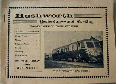 Rare Rushworth (Vic) 1948 Booklet...yesterday And Today