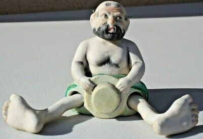 Antique Hand Painted Bisque Nodder Beach Bum With Posable Legs Ardalt Japan