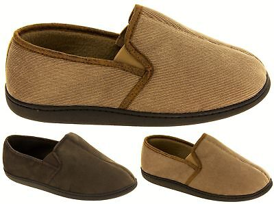 Mens Coolers Fleece Lined Cord Outdoor Sole Shoes Slippers for Men Sz Size 7-12