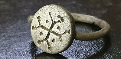 Byzantine Large Silver  Ring with Cross 6th-7th century AD