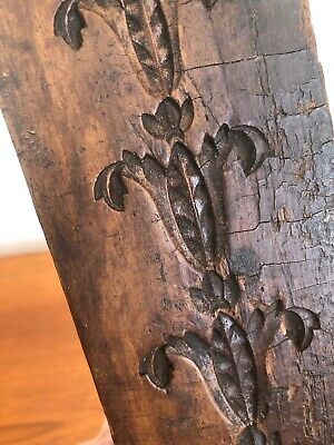 Vintage Hand Carved Wooden Moulding For Frame Maker Furniture Decoration
