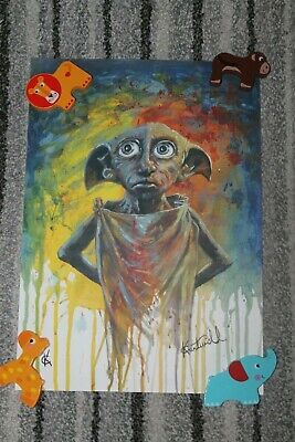 Exclusive Signed Harry Potter House Elves Poster - DOBBY
