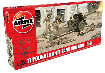 airfix 1:32 17 pounder anti-tank gun and 6 crew