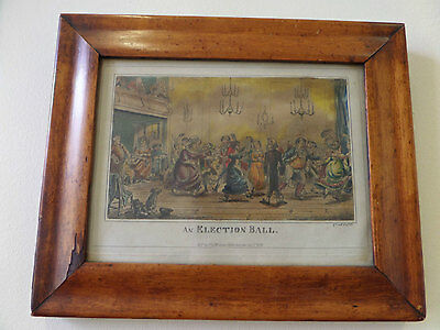 George Cruikshank 1835 Hand-Colored Lithograph - Framed - 19th Century - Antique