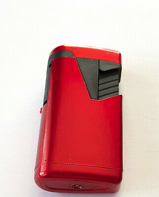 Gas Lighter - Double Jet Flame , Red Colour