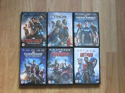 Marvel Phase 2 DVD Collection (Iron man 3 Thor , Captain America , Ant Man )