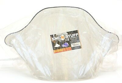 SNO Stuff Flared Windshield - 16.5in. Smoke with Diamonds 479-645-05 for Yamaha