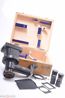 Zeiss Photo-Micrographic Glass Plate Camera 4 Jug Handle Antique Brass Microcope