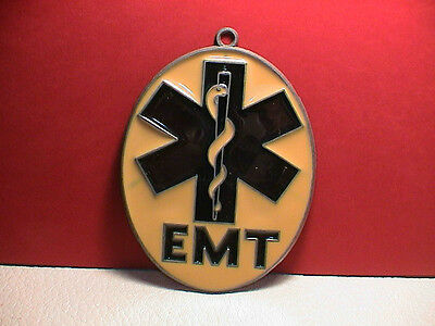 Emt Firemen Staff Of Life Suncatcher Ornament Hang Over The Bed Or Window