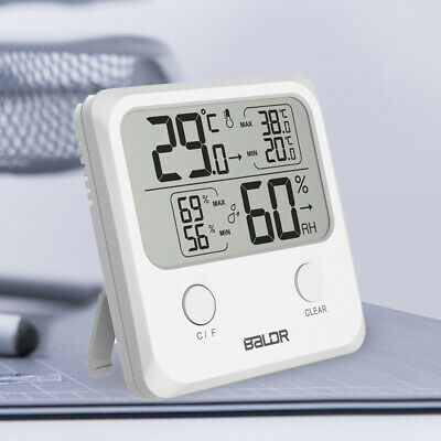 UK Mini Hygro-thermometer Digital Indoor Hygrometer Wall Humidity LCD Electronic