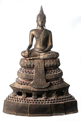 Antique 19th Century Sukhothai Thai Enlightenment Buddha Statue - 73cm/29""