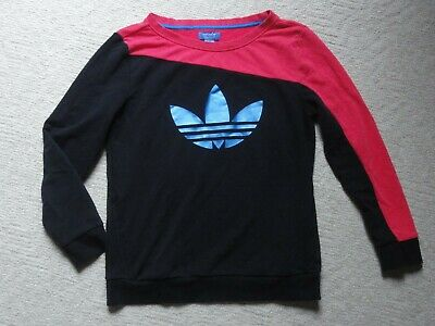 9cba5b7c7a30 ADIDAS ORIGINALS TREFOIL WOMENS CREW SWEATSHIRT black red blue sz Large