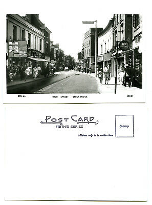 50s HIGH STREET STOURBRIDGE RP POSTCARD~WORCESTERSHIRE~VINTAGE ROAD/STREET SIGNS