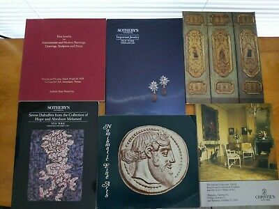 LOT of 6 Sotheby's and Christie's Auction Catalogs, 1979-1989