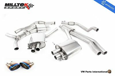 AUDI RS5 B9 Turbo Coupe Milltek Sport Road+ Cat Back Exhaust