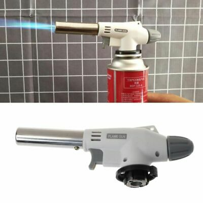 Metal Portable Flame Gun BBQ Heating Ignition Butane Camping Welding Gas Torch
