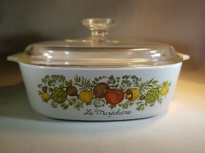Corning Ware Spice of Life Le Marjolaine 2 Qt Casserole Baking Dish With Lid
