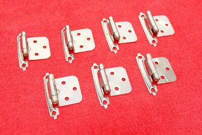 Lot of 6 (actually 7) Vintage Silver Chrome HINGES Mid Century Ranch American BP