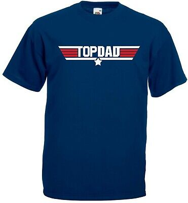 TOP DAD T Shirt - Top Gun Awesome Daddy Fathers Day Gift Present Christmas Mens
