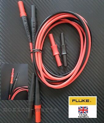 Fluke TL221 Sure Grip Extension Lead Set ( inc. double female extension adapter)