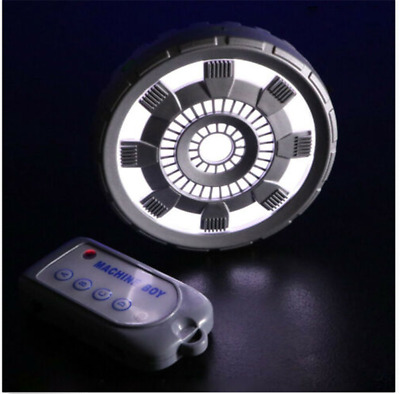 New Iron Man Chest Lamp Arc Reactor Remote Control LED Light Cosplay Props Gift