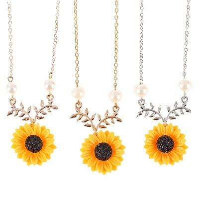 Charm Pearl Necklace Temperament Fashion Sunflower Pendant Gift Jewelry Gifts