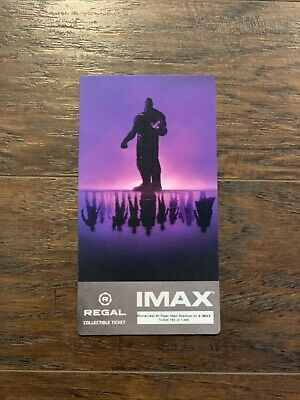 Avengers Endgame Regal IMAX Collectible Ticket 980 out of 1000 ***LOOK***