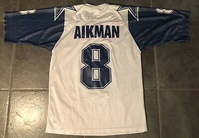 newest 5b825 e13cd DALLAS COWBOYS TROY Aikman #8 Apex One Jersey size Large ...