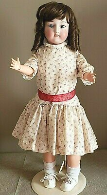 """Antique 25"""" Bisque Head Composition Body Nippon Doll"""
