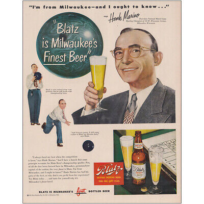"""Blatz Milwaukees Finest Beer Groucho Marx 10/"""" x 7/"""" reproduction metal sign"""