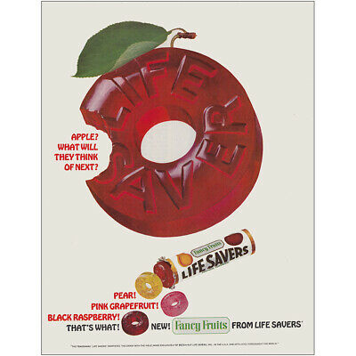 1965 Lifesavers Fancy Fruits: Apple What Will They Think Of Vintage Print Ad