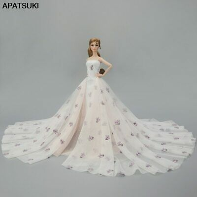 High Fashion Doll Clothes for 1/6 Doll Big Evening Dresses Party Gown Outfits