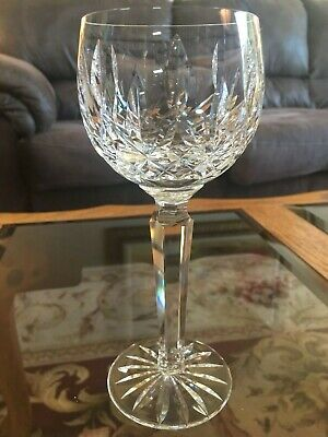 "Waterford Crystal Lismore Wine Hock Glasses 7 3/8"" Set of 9"