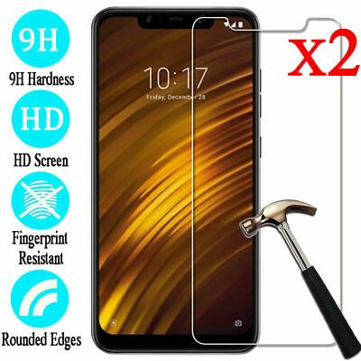 2X 9H Tempered Glass Screen Protector Film For Xiaomi Mi 9SE 8 Note 5 6 Pro 4A