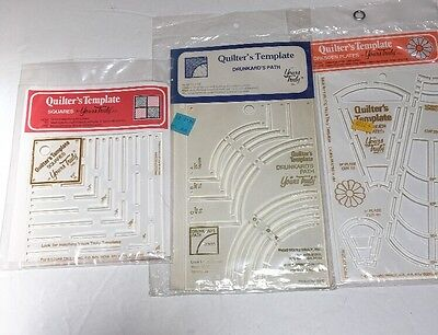 Lot of 3 Quilter's Templates by Yours Truly Inc. NEW Drunkard Dresden Squares